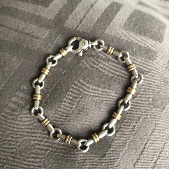 Tiffany & Co. Jewelry - Tiffany and Co.Vintage 925 & 750 Bar Link Bracelet